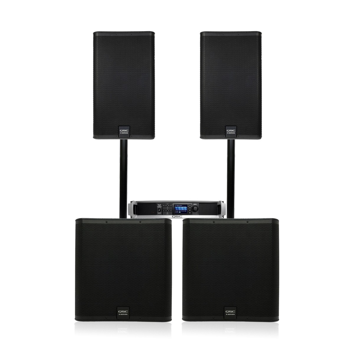 Qsc E Series E115 And E118sw Complete Pa System Gear4music