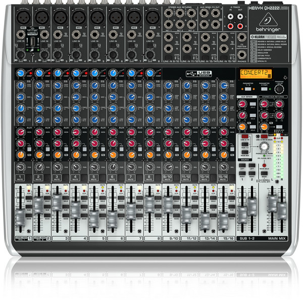 Behringer xenyx qx2222usb table de mixage usb b stock gear4music - Table de mixage yamaha usb ...