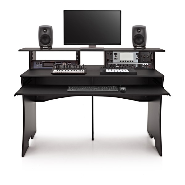 Strange 3 Tier Pro Audio Studio Desk By Gear4Music 8U Home Interior And Landscaping Palasignezvosmurscom