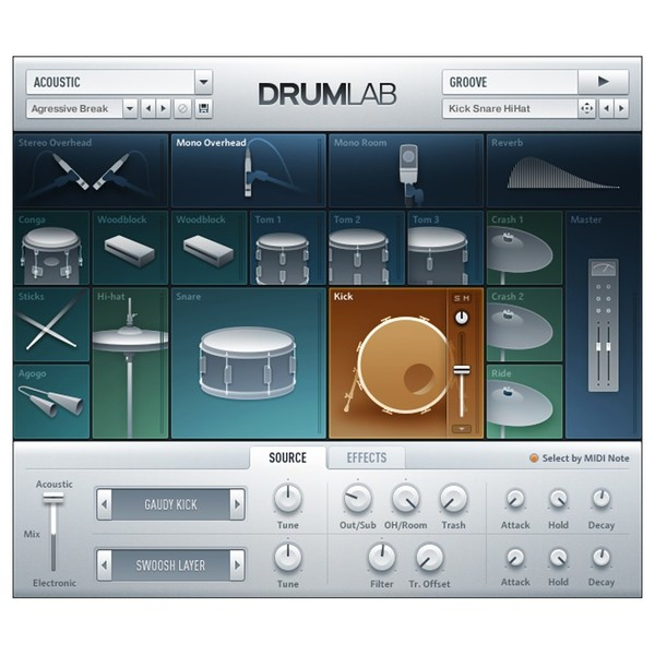 Native Instruments Komplete 12 Upgrade from Komplete Select - Drumlab