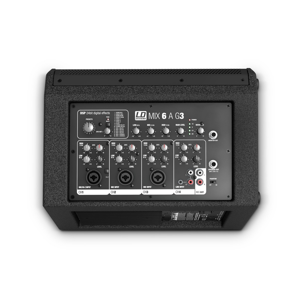 Ld Systems Mix 6 Ag3 Active Pa Speaker With 4 Channel Mixer At Input Loading Zoom