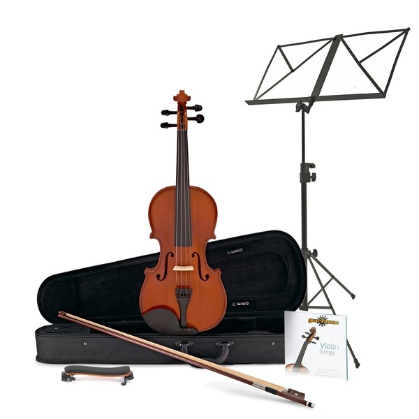 Student Full Size Violin + Accessory Pack by Gear4Music