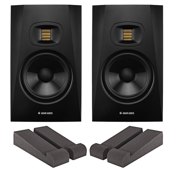 Adam Audio T7V Studio Monitors with Iso Pads - Bundle