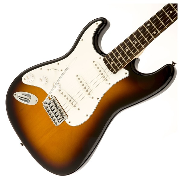 Squier Affinity Stratocaster Left Handed, Laurel Brown Sunburst - Body 1