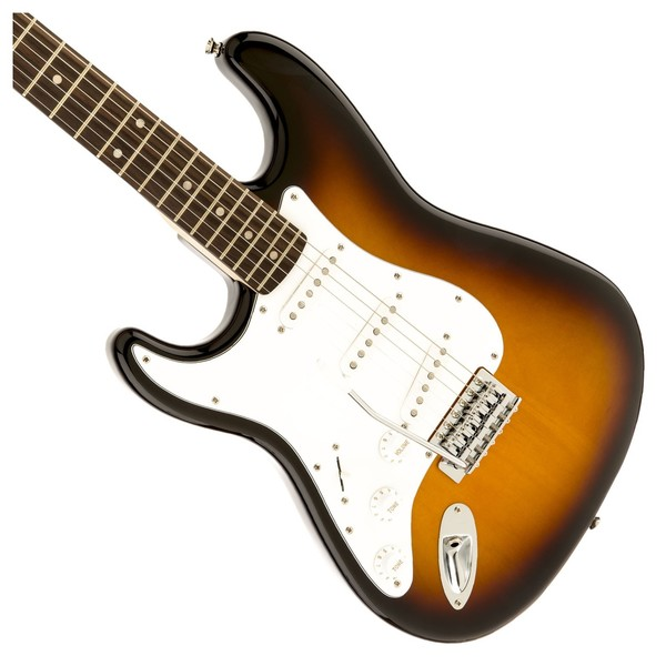Squier Affinity Stratocaster Left Handed, Laurel Brown Sunburst - Body 2