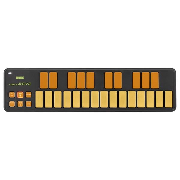 Korg nanoKEY2 USB MIDI Controller, Orange/Green - Top