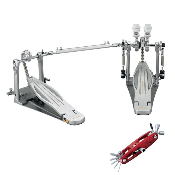 Tama Speed Cobra Double Bass Drum Pedal with Case and Free Multi Tool