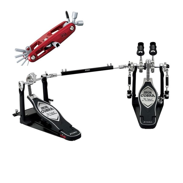 Tama Iron Cobra PowerGlide Double Pedal with Case and Free Multi Tool