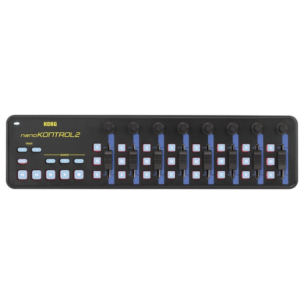 Korg nanoKONTROL2 USB MIDI Controller, Blue/Yellow - Top
