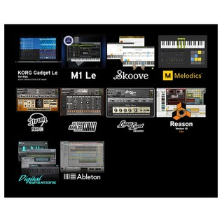 Korg nanoPAD2 USB MIDI Controller, Black - Software Bundle