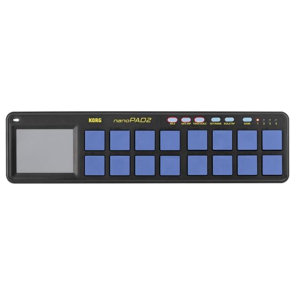 Korg nanoPAD2 USB MIDI Controller, Blue/Yellow - Top