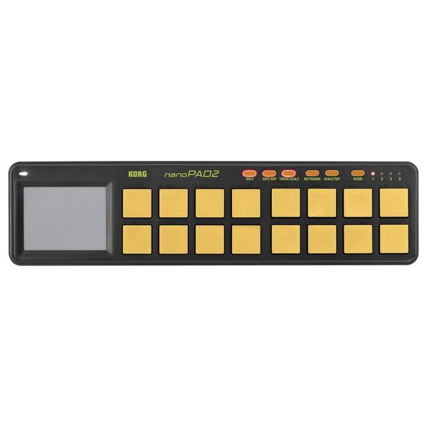 Korg nanoPAD2 USB MIDI Controller, Orange/Green - Top