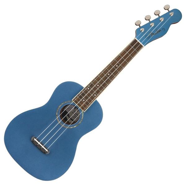 Fender Zuma Classic Concert Ukulele WN, Lake Placid Blue Front View
