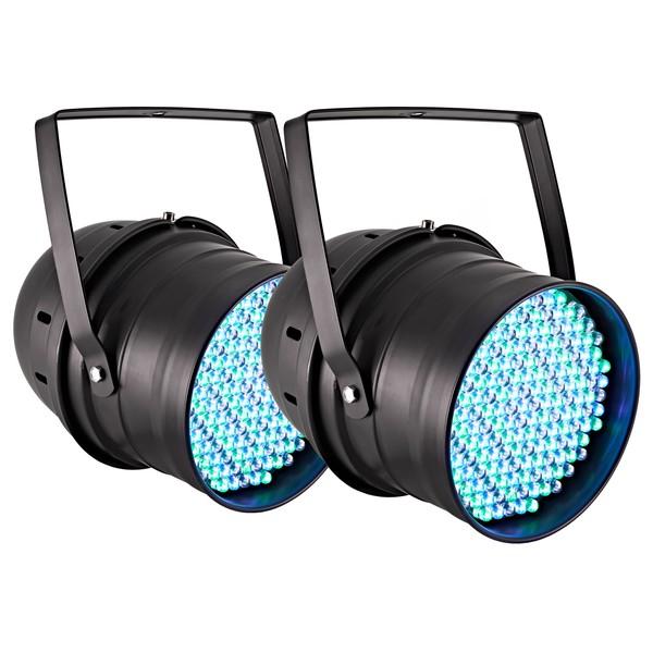 SOL 177 x 10mm LED Par Cans by Gear4music, Pair