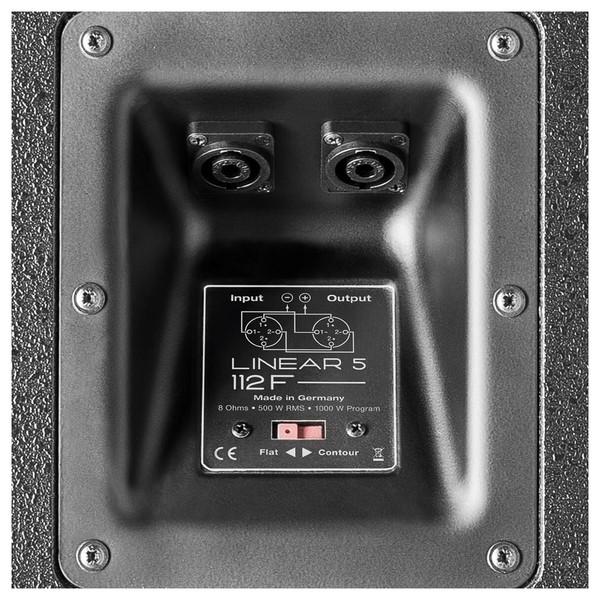 HK Audio Linear 5 L5 112 F 12'' Passive PA Speaker, Rear Connectivity