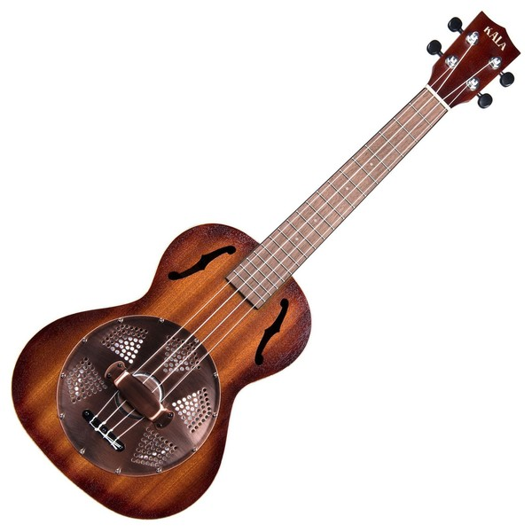 Kala KA-RES-BRS Resonator Tenor Ukulele, Sunburst Satin Front View