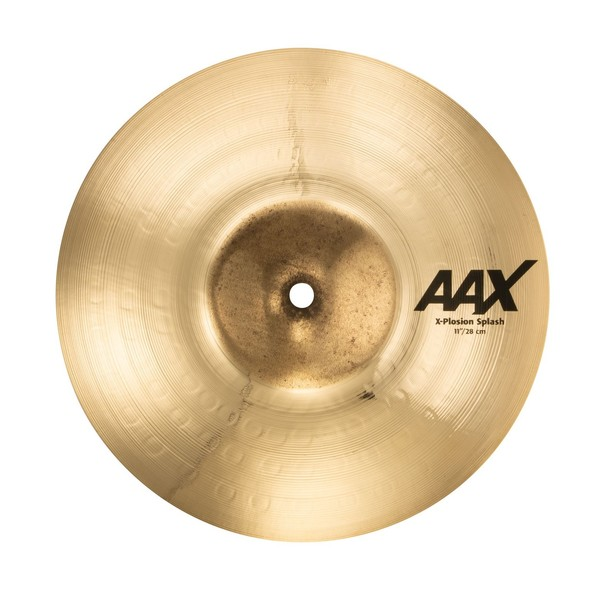 "Sabian AAX X-Plosion 11"" Splash Cymbal, Brilliant Finish - Angle"