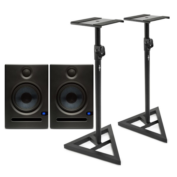 PreSonus Eris E5 Active Studio Monitors, with Stands - Full Bundle