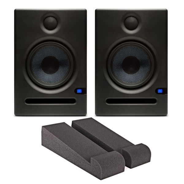PreSonus Eris E5 Active Studio Monitors with Iso Pads & Cables - Bundle