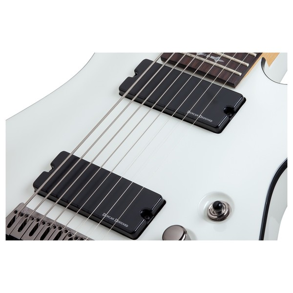 Schecter Demon-8 8 String, Vintage White Pickups