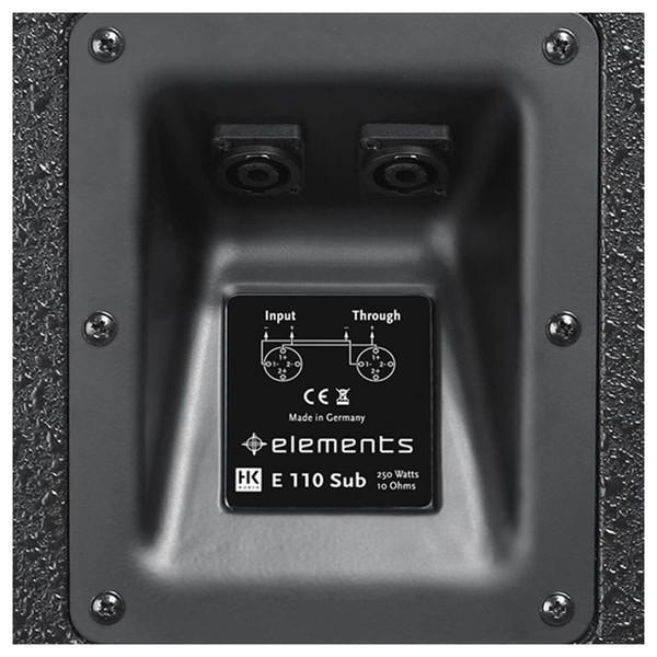 """HK Audio Elements E 110 SUB 10"""" Passive Subwoofer, Rear Connectivity"""