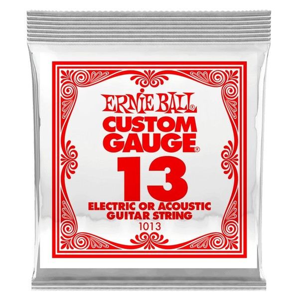 Ernie Ball Single .013 Plain Steel String - Front View