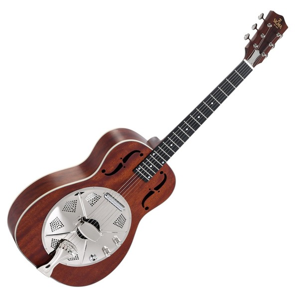 Sigma RM-140E+ Electro Acoustic Cone Resonator, Mahogany Front View
