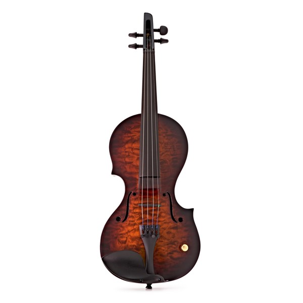Wood Nashville 4 String Electric Violin, Tobacco Burst Quilt