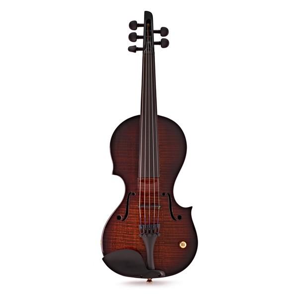 Wood Nashville 5 String Electric Violin, Teak Tiger Maple