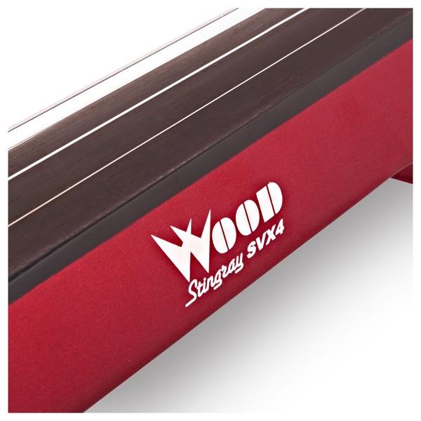 Wood StingRay SVX4 Electric Violin, Candy Apple Red logo