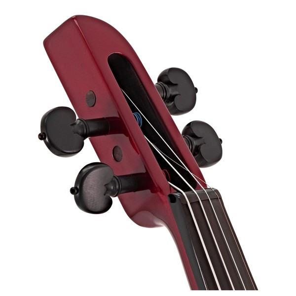 Wood StingRay SVX4 Electric Violin, Candy Apple Red head