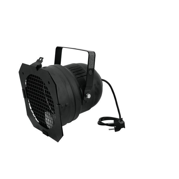 Eurolite PAR-56 Spotlight with Short Plug, Black - side view 1
