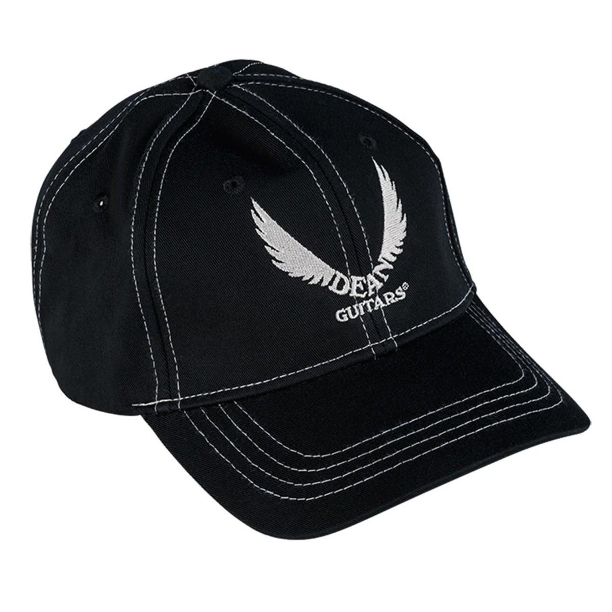 dean guitars baseball cap black wing logo at gear4music