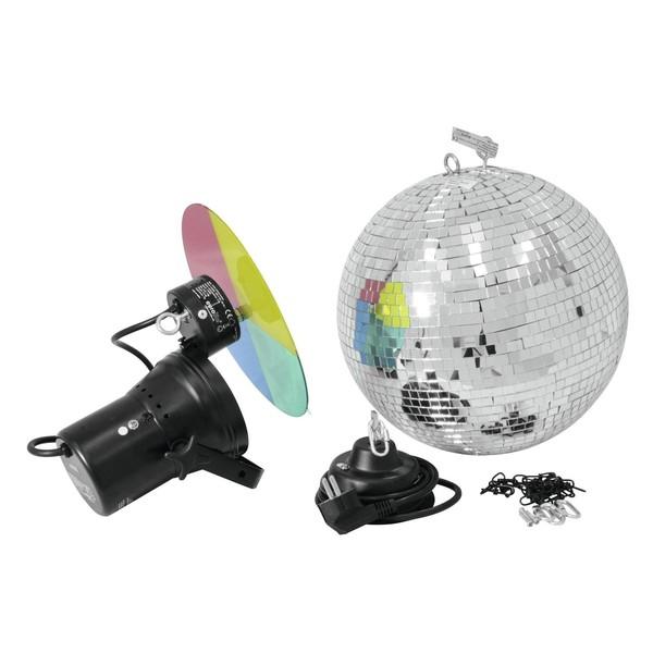 Eurolite Mirror Ball with Pinspot, 30cm