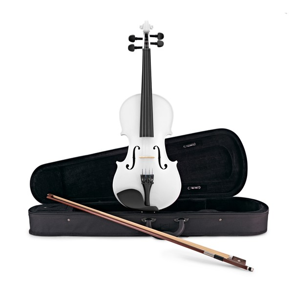Student Full Size Violin, White, by Gear4music