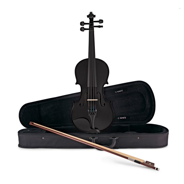 Student Full Size Violin, Black, by Gear4music