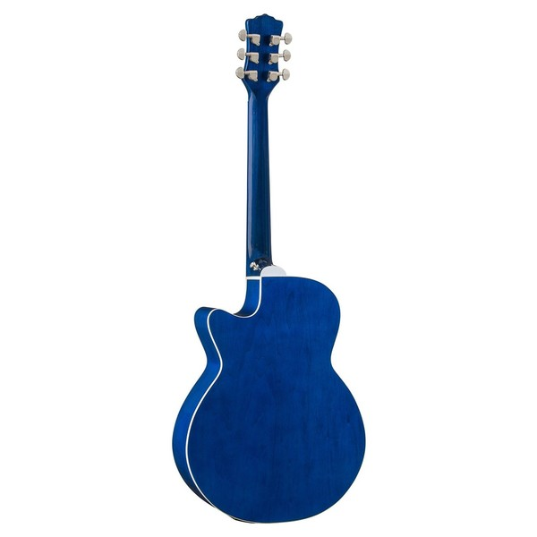 Luna Fauna Dolphin Electro Acoustic Guitar Back View