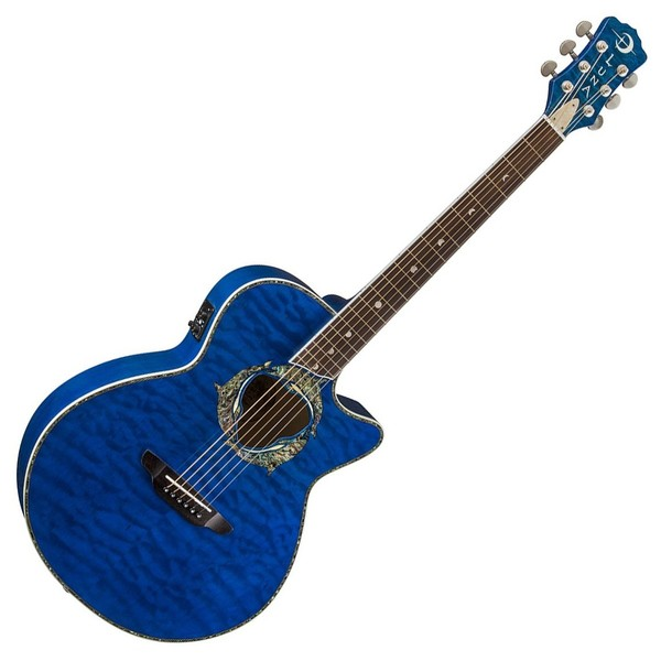 Luna Fauna Dolphin Electro Acoustic Guitar Front View