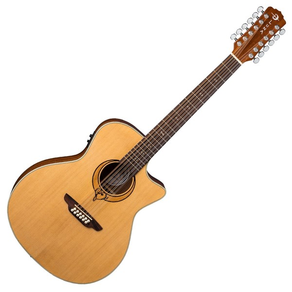 Luna Heartsong 12 String Electro Acoustic Guitar with USB Front View