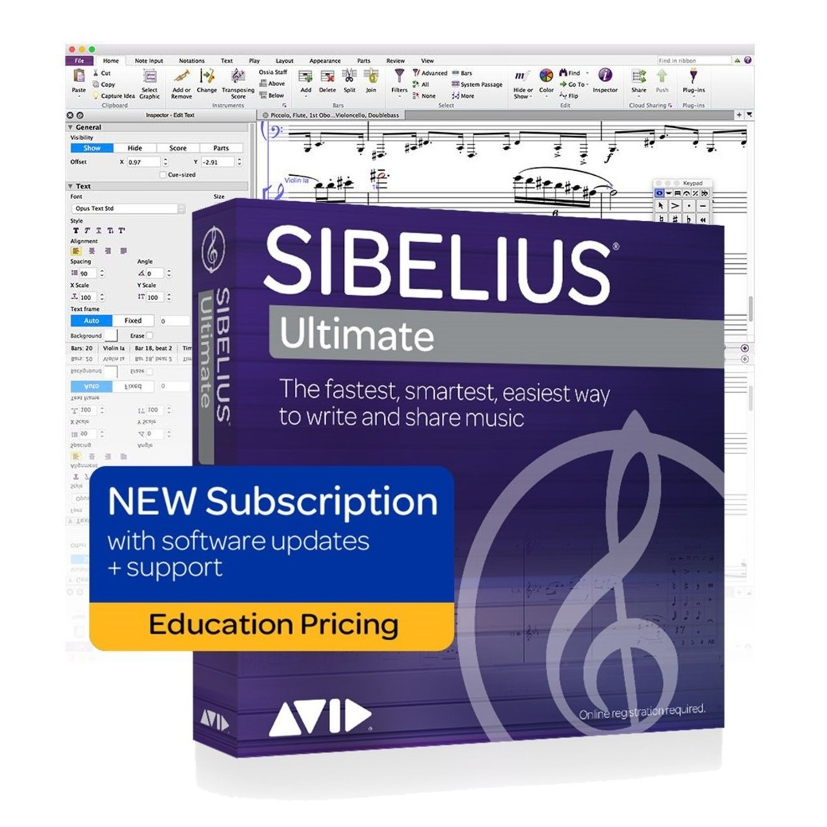 Sibelius Ultimate 12-Month Subscription Licence (Student/Teacher)