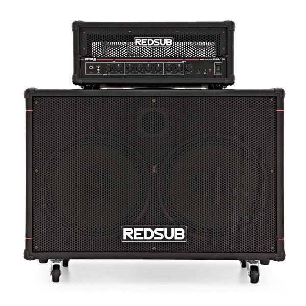 "RedSub 100W Bass Amp Head + 2 x 12"" Cabinet"