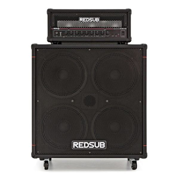 "RedSub 100W Bass Amp Head + 4 x 10"" Cabinet"
