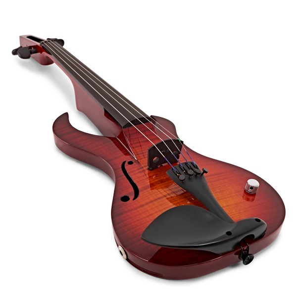 Wood Violins Katana Sabre 4 String Electric Violin, Tiger Cherry angle