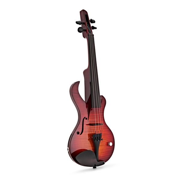 Wood Violins Katana Sabre 4 String Electric Violin, Tiger Cherry front