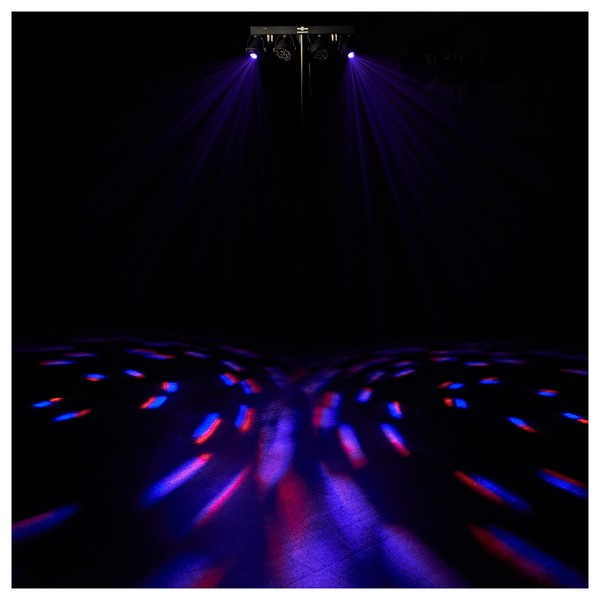 60W Mini Party LED and Kaleidoscope Par Set by Gear4music