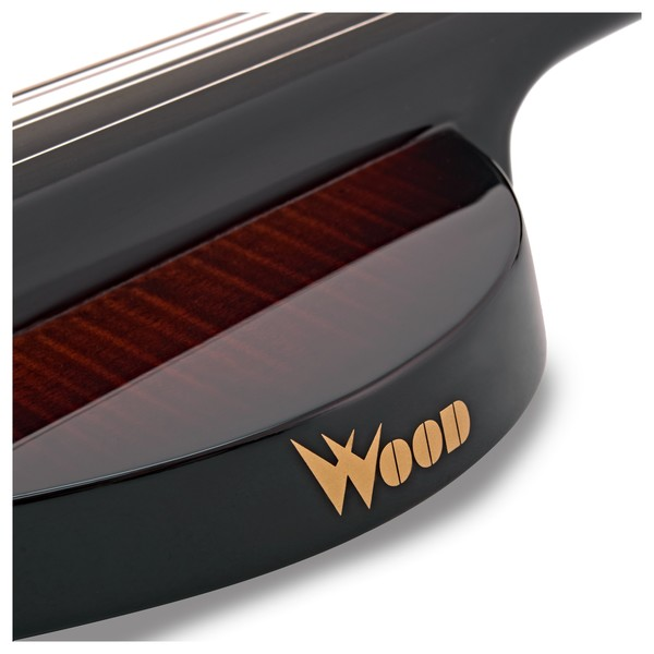 Wood Violins Nashville 5 String Electric Violin, Teak Tiger Maple logo