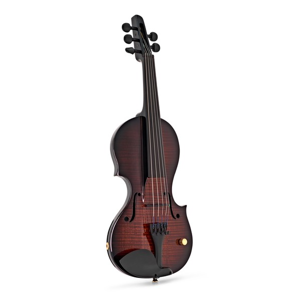 Wood Violins Nashville 5 String Electric Violin, Teak Tiger Maple front