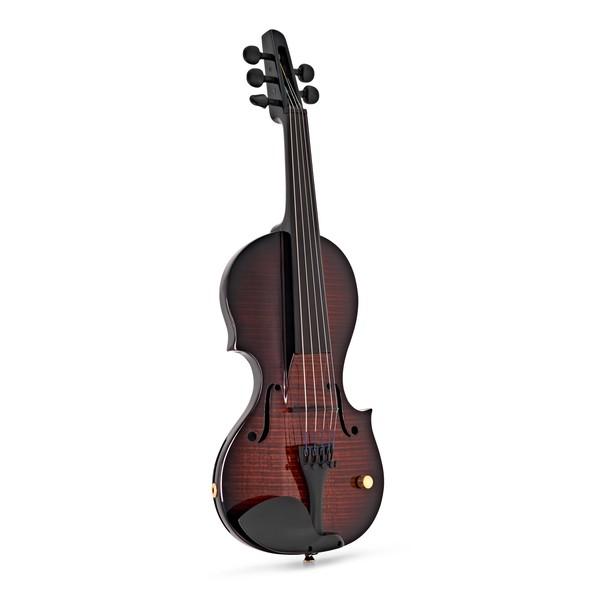 Wood Violins Nashville 5 String Electric Violin, Teak Tiger Maple front