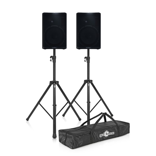 QSC CP12 12'' Active PA Speaker with Free Stands