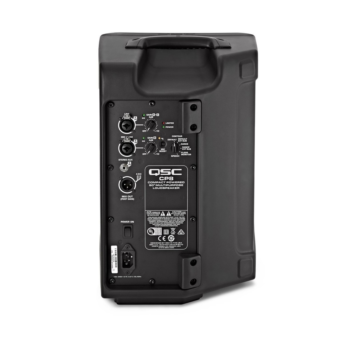 Qsc Cp8 8 Active Pa Speakers With Free Stands At Gear4music Audio Xlr Wiring Multiple Loading Zoom